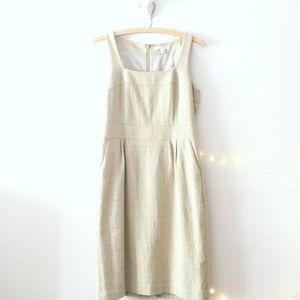 Banana Republic Creamy Taupe Dress With Pockets